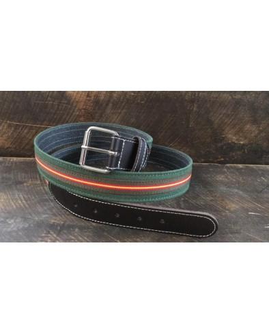 Cinturón hombre piel Bandera de España (verde)